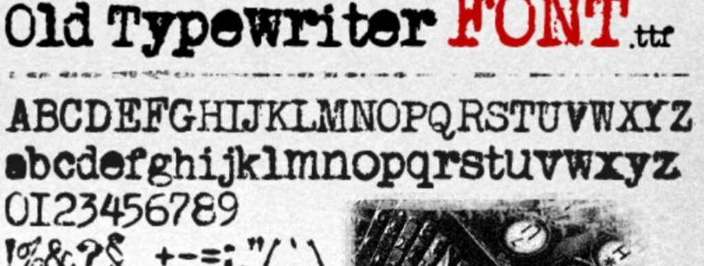 Font Mesin Tik Old Typewriter