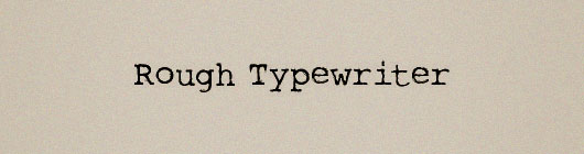 Font-Mesin-Ketik-Rough-Typewriter