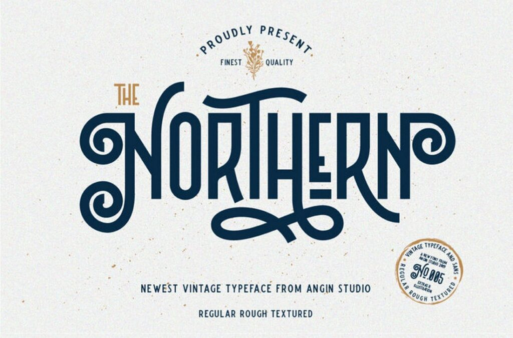 The Northern Font Decorative Vintage Keren